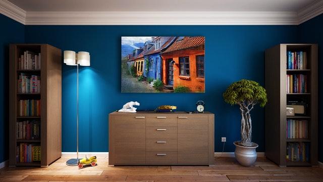 Blue Wall Paint Design U0026 Color