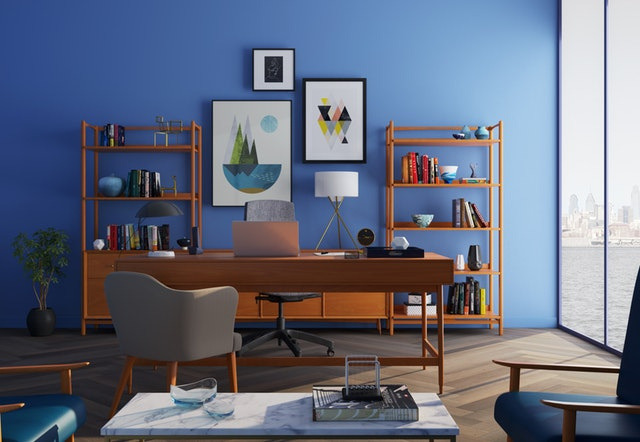 Blue Wall Paint Design Color