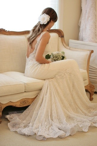 Dreamy Lace Dress With Low Back