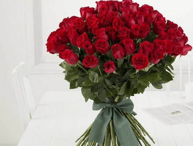 Red Rose Bouquet - valentine's day gifts for her