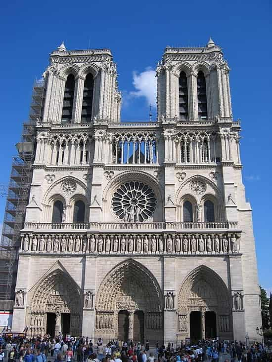 Notre Dame Cathedral -relaxing things to do in paris