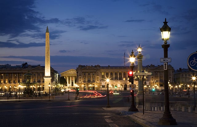 Place de la Concorde - places to visit in paris at night