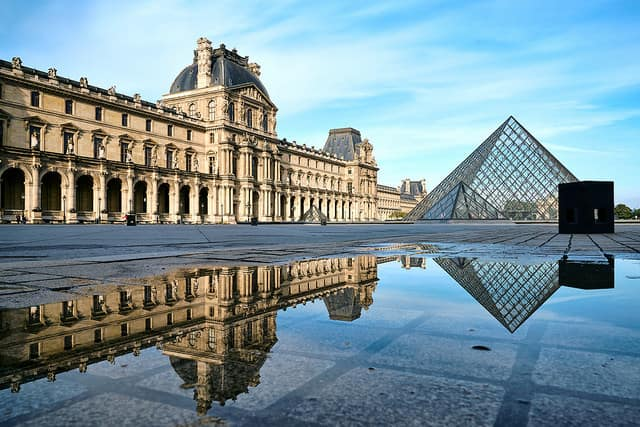The Louvre - places to visit in paris at night