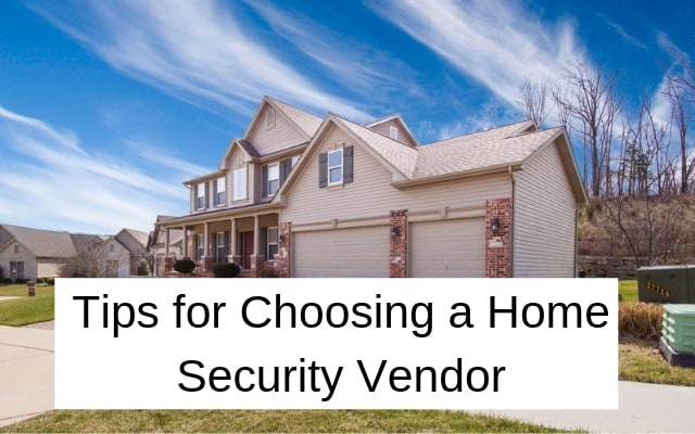Home security vendor