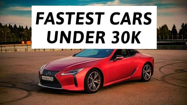 Top Fastest Cars Under 30k Attention Trust