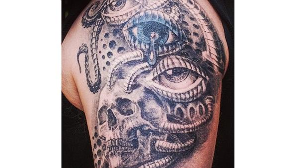 biomechanics Tattoo Design - Top Tattoo Design Ides for Men