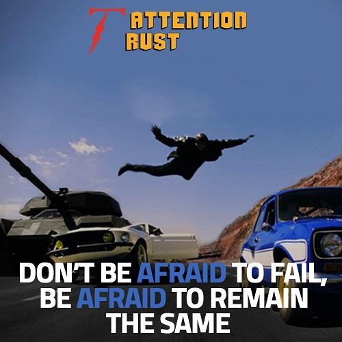 Don't be Afraid to Fail,
