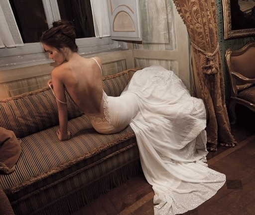 2-Strap Wedding Dress With Lace