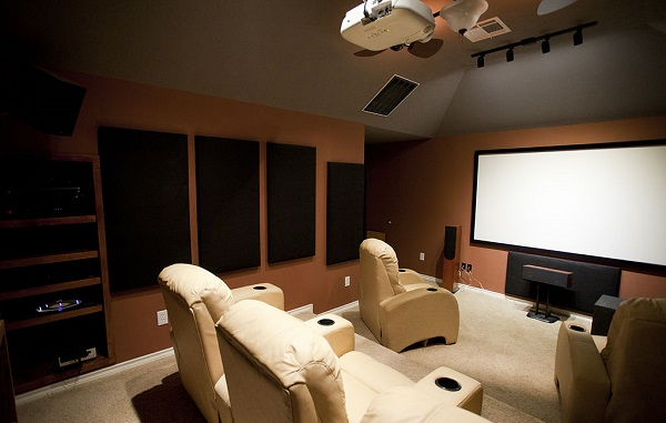 Lite Yellow & Black Home Theater Top Home Theater Designs