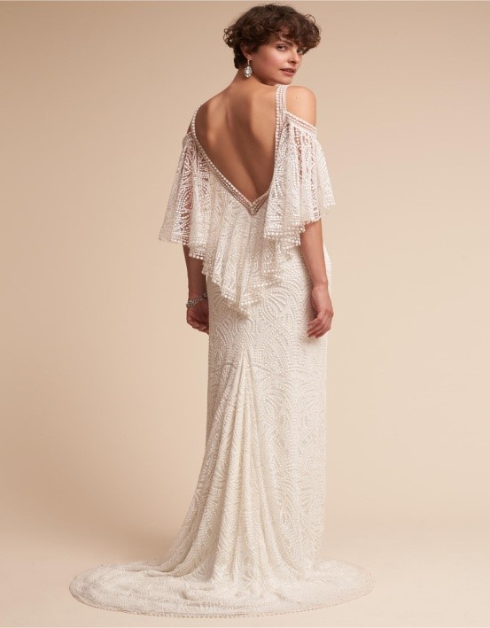 Off-The-Shoulder Column Gown