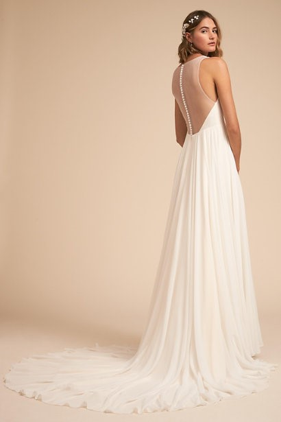 Sleeveless Gown With A-Line Skirt