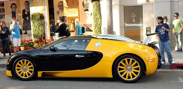 Bugatti Veyron Yellow Rim Designs