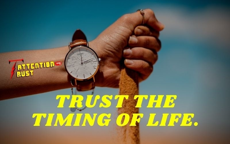 Trust the timing of life.