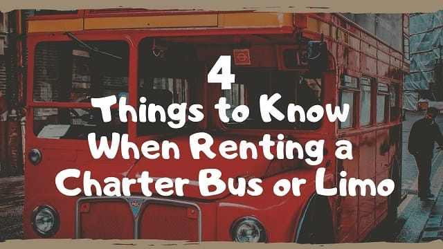 Renting a Charter Bus