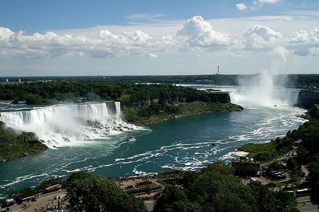 Niagara Falls - most powerful waterfall