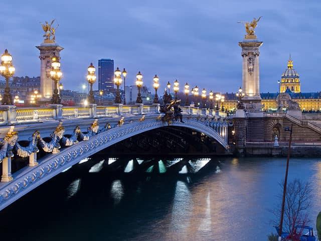 Pont Alexandre III - famous places in paris