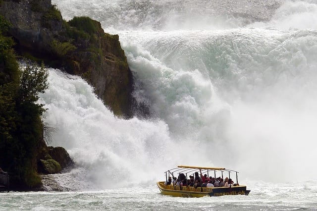 Rhine Falls - most powerful waterfall in the world