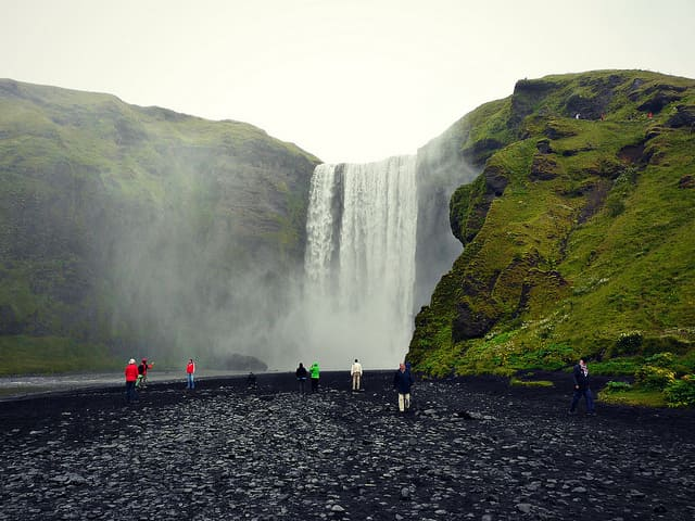 Skógafoss Waterfall - most beautiful waterfall