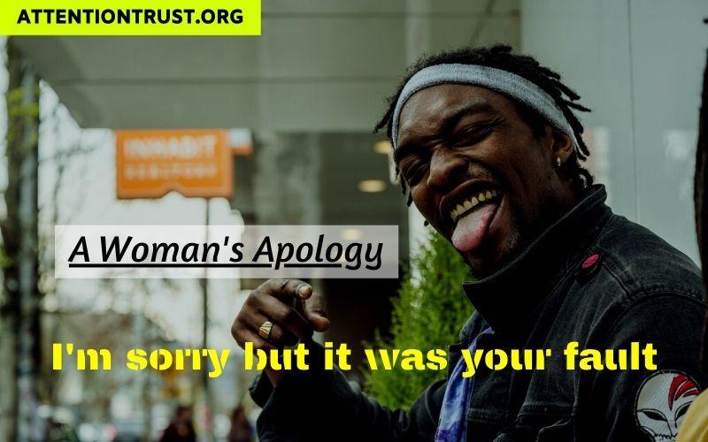 Woman's Apology