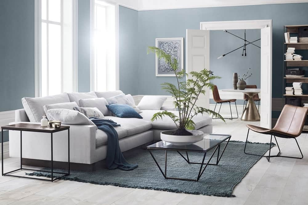 Powder Blue Living Room Wall Paint