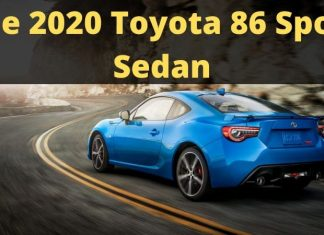 The 2020 Toyota 86 Sports Sedan