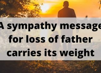 Sympathy Message for Loss of Father