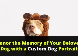 Honor the Memory of Your Beloved Dog with a Custom Dog Portrait