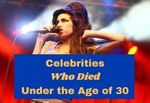 Celebrities Who Died Under the Age of 30