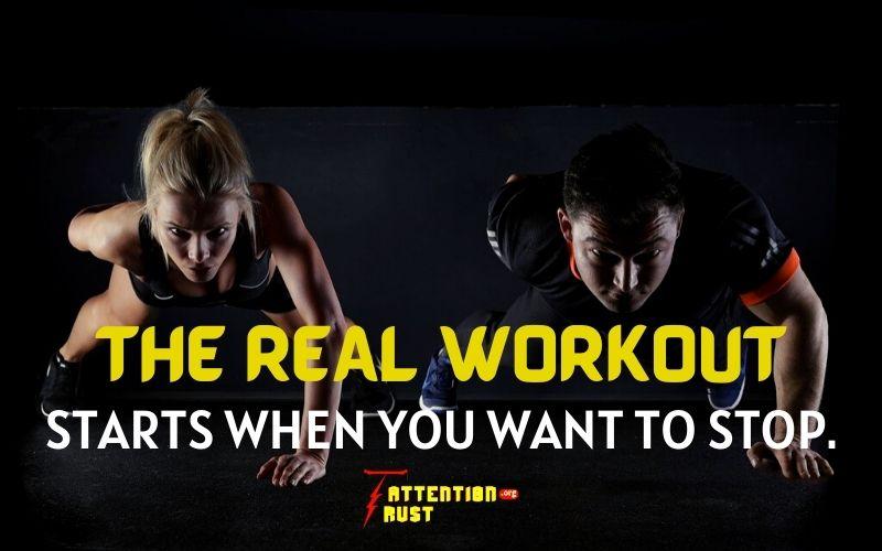 Starts workout