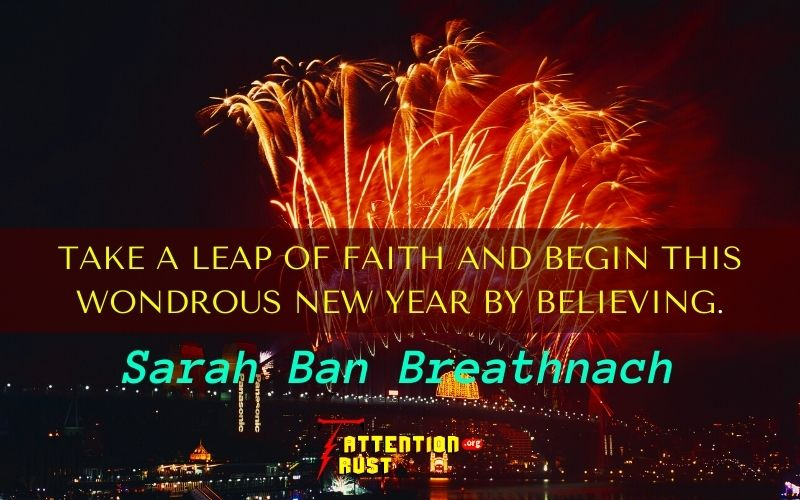 Take a leap of faith and begin this wondrous new year by believing