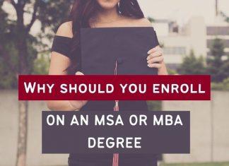 MSA or MBA degree
