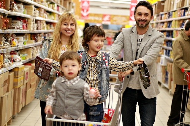 Groceries with family